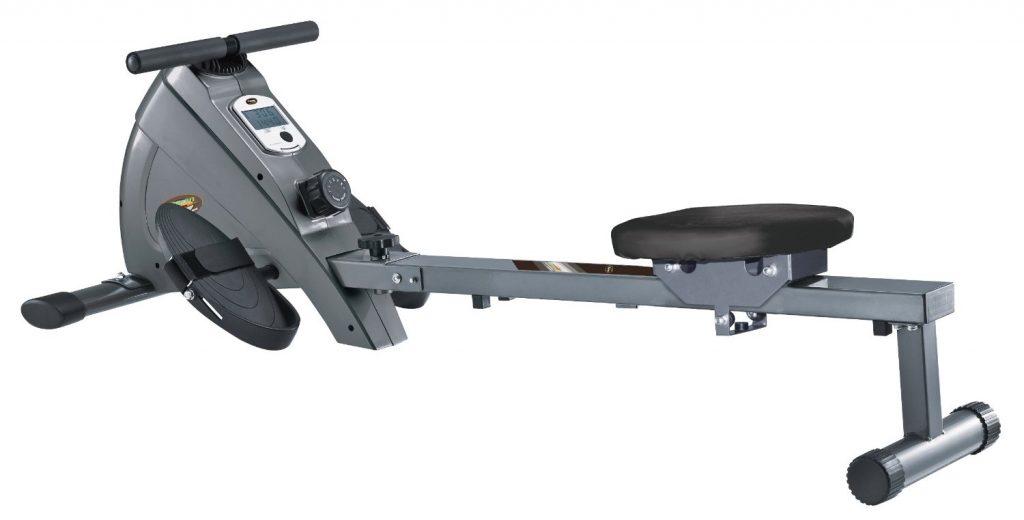 Body Coach Rameur magnétique rail aluminium Argent/ Noir 153 x 52 x 45 cm